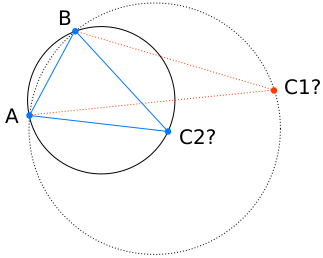 Circumcircle of three points